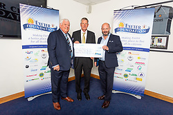 The Age UK Exeter Charity receives their cheque - Ryan Hiscott/JMP - 06/08/2018 - RUGBY - Sandy Park - Exeter, England - Exeter Chiefs Season Launch Dinner