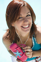 Young Woman with Pink Purse Smiling, Portrait