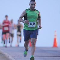 Runners participate in the Quintiles Wrightsville Beach Marathon/Half Marathon Sunday March 22, 2015 in Wilmington, N.C. (Jason A. Frizzelle)