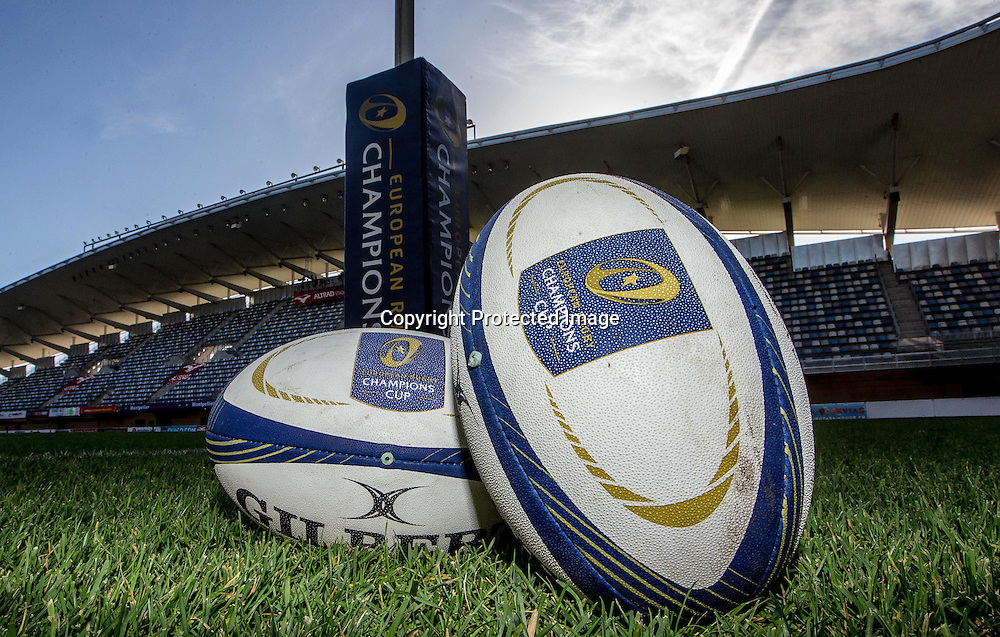 European Rugby Champions Cup Round 2, Altrad Stadium, Montpellier, France 25/10/2014<br /> Montpellier vs Glasgow Warriors <br /> General view of the match balls before the game<br /> Mandatory Credit &copy;INPHO/James Crombie