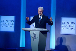 Bill Clinton at The Business And Political Leaders Attend Clinton Global Initiative Annual Meeting in New York, September 19th 2016.