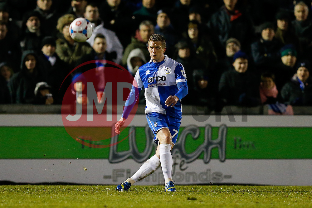 Lee Mansell of Bristol Rovers in action - Photo mandatory by-line: Rogan Thomson/JMP - 07966 386802 - 24/02/2015 - SPORT - FOOTBALL - Bristol, England - Memorial Stadium - Bristol Rovers v Braintree Town - Vanarama Conference Premier.