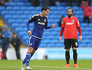 Cardiff City midfielder, Peter Whittingham (7) opens the scoring during the Sky Bet Championship match between Cardiff City and Brighton and Hove Albion at the Cardiff City Stadium, Cardiff, Wales on 20 February 2016.