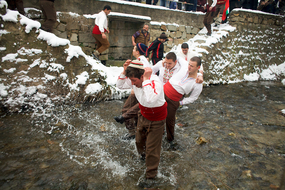 Jan. 7, 2011 -- Kukeri, babugeri, survakari -- Balkan traditions.