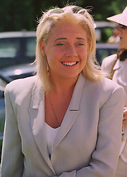MISS ZOE APPLEYARD close friend of impressionist Rory Bremner, at a polo match in Sussex on 19th July 1998.MJD 103