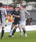 Dundee's Paul McGinn and St Mirren's Callum Ball - St Mirren v Dundee, SPFL Premiership at St Mirren Park<br /> <br />  - © David Young - www.davidyoungphoto.co.uk - email: davidyoungphoto@gmail.com