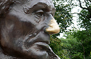 Abraham Lincoln's nose in Oak Ridge Cemetery, Springfield, Illinois, is the final resting place of the 16th President of the USA