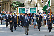 Rhodesia miltary veterans march during Brisbane ANZAC day 2014 parade