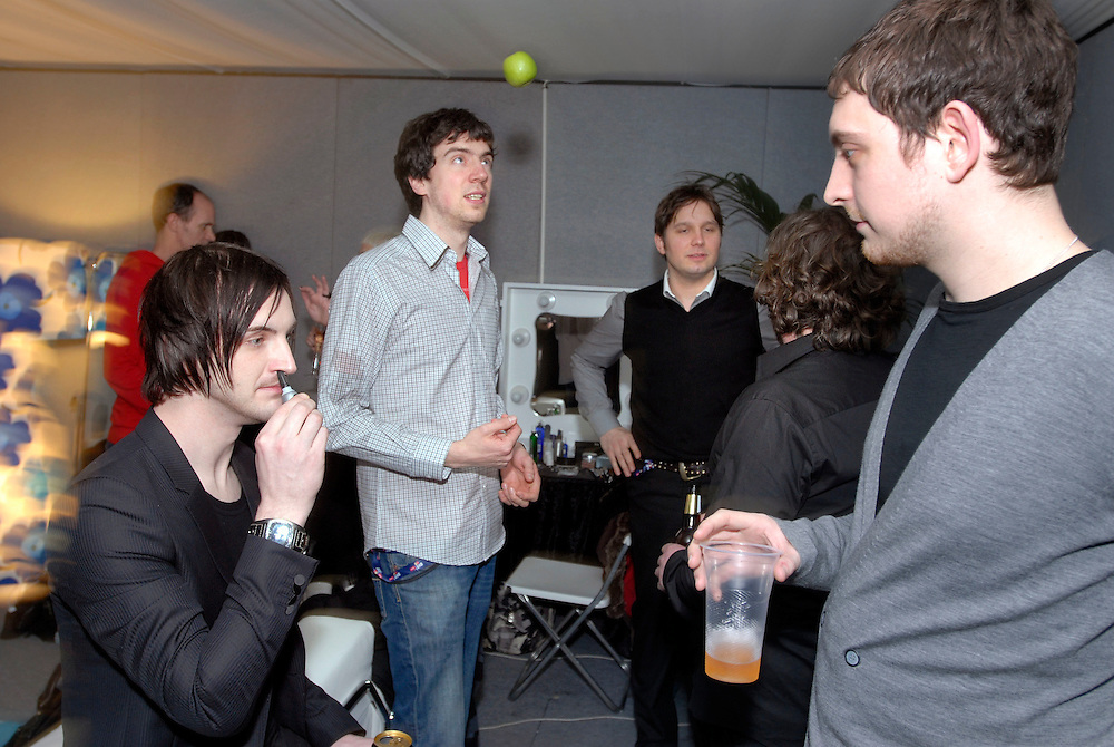 London. Rock group Snow Patrol at the Brit Awards at London's Earls Court..