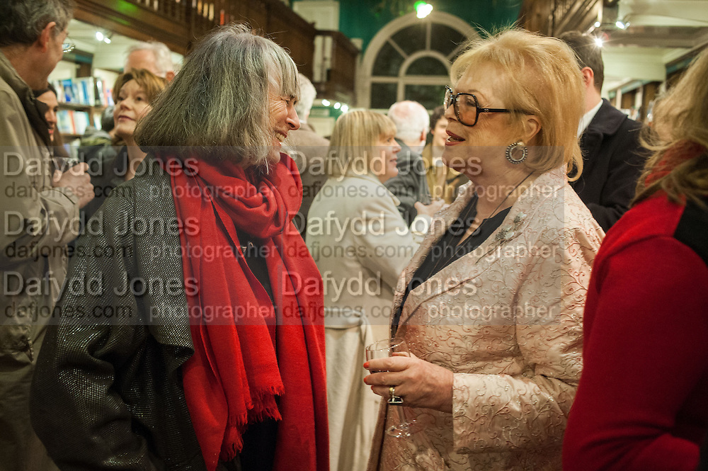 CAROLINE GARLAND; LADY ANTONIA FRASER, William Fitzgerald, Book launch ,  'How to read a Latin poem - if you can't read Latin yet' published by OUP.- Daunts bookshop Marylebone, London 21 February 2013.