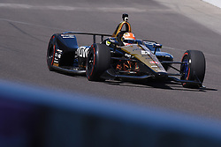 April 30, 2018 - Indianapolis, IN, U.S. - INDIANAPOLIS, IN - APRIL 30: James Hinchcliffe (5) entering Turn 1 during an Open Test on April 30, 2018, at the Indianapolis Motor Speedway in Indianapolis, IN. (Photo by James Black/Icon Sportswire) (Credit Image: © James Black/Icon SMI via ZUMA Press)