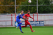 Carshalton Athletic Ricky Korboa (7) during the Ryman League - Div One South match between Carshalton Athletic and South Park FC at War Memorial Sports Ground, Carshalton, United Kingdom on 19 November 2016. Photo by Jon Bromley.