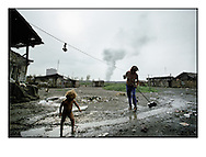 Slovakian roma´s in a small village isolated from the rest of the society in Slovakia.