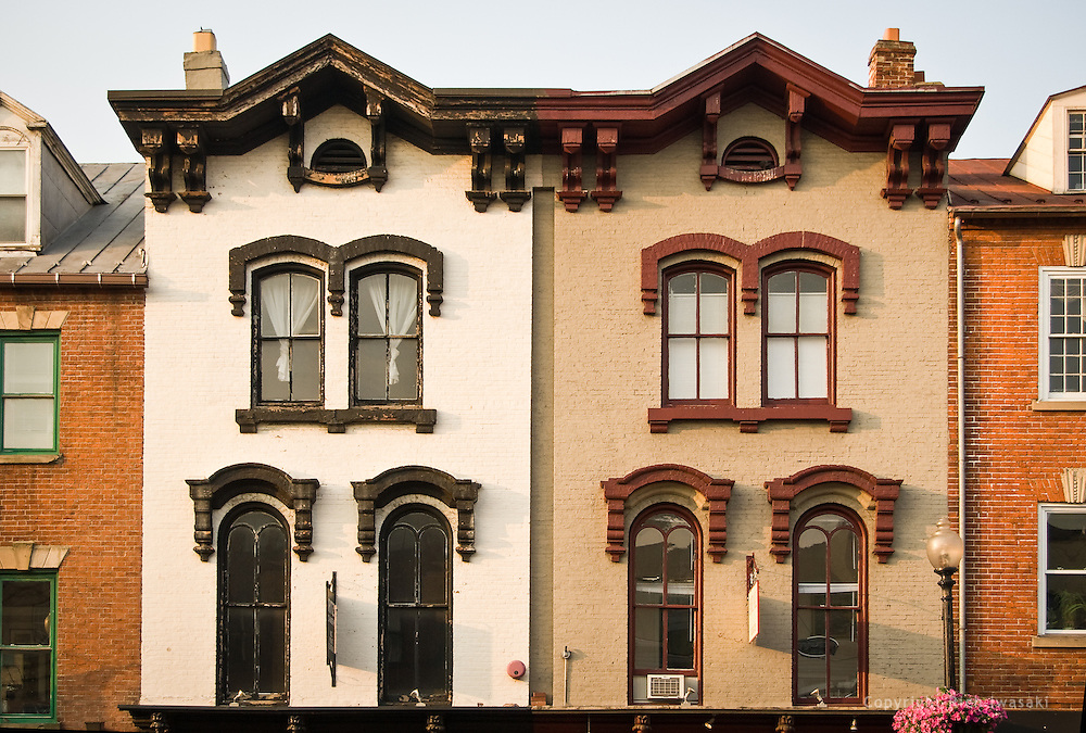 Windows of storefront facade, Georgetown district, Washington, DC