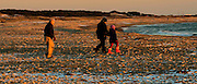 grandparents and Granddaughter on the Beach at Horseneck Beach State Park at Sunset