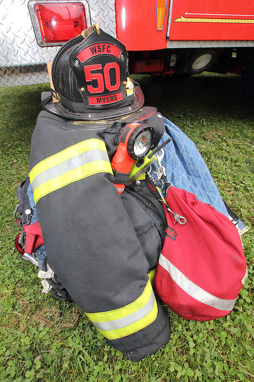 """The West Lampeter Township Police host its annual """"National Night Out"""" at the Lampeter Fairgrounds. The evening included demonstrations by local law enforcement, fire and rescue teams and emergency medical technicians. Families enjoyed face painting by Volunteers from Target, Hot Dogs and Fries from Hess's Barbecue and Bull Riding by The Bull Guys. Entertainment was provided by the Lampeter Strasburg Community Band and DJ Chuck Colson. Prizes were awarded to children of all ages."""