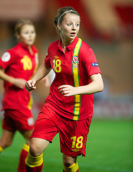 LLANELLI, WALES - Saturday, September 15, 2012: Wales' Hannah Keryakoplis in action against Scotland during the UEFA Women's Euro 2013 Qualifying Group 4 match at Parc y Scarlets. (Pic by David Rawcliffe/Propaganda)