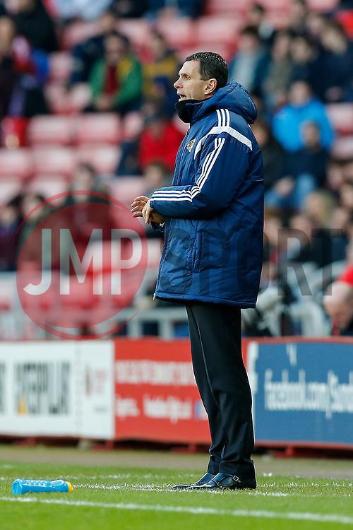 Sunderland Manager Gustavo Poyet looks on - Photo mandatory by-line: Rogan Thomson/JMP - 07966 386802 - 04/01/2015 - SPORT - FOOTBALL - Sunderland, England - Stadium of Light - Sunderland v Leeds United - FA Cup Third Round Proper.