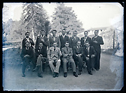 group portrait of only men circa 1930s France