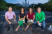 Live production of AMHQ, the Weather Channel's morning television show from the French Quarter in New Orleans