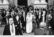 Marriage of Peregrine Armstrong-Jones to Caroline Bloy. Brompton Oratory. 29/10/87 Film 87905f10<br />© Copyright Photograph by Dafydd Jones 66 Stockwell Park Rd. London SW9 0DA Tel 020 7733 0108 www.dafjones.com
