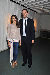 FRITZ VON WESTENHOLZ and CAROLINE SIEBER at a dinner hosted by Calvin Klein Collection to celebrate the future Home of The Design Museum at The Commonwealth Institute, Kensington, London on 13th October 2011.
