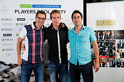 Matjaz Pogacnik, Grega Zemlja and Ziga Janskovec at Players Pool Party during Day Two of tennis tournament ATP Challenger Tilia Slovenia Open 2013 on July 3, 2013 in Hotel Kempinski, Portoroz / Portorose, Slovenia. (Photo by Vid Ponikvar / Sportida.com)
