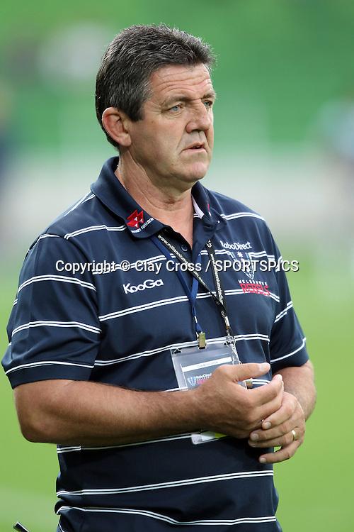 John Muggleton Rebels Senior Assistant Coach before the Super Rugby pre season, Rebels v Blues, AAMI Park, Melbourne. Saturday 11 February 2012. Photo: Clay Cross/photosport.co.nz