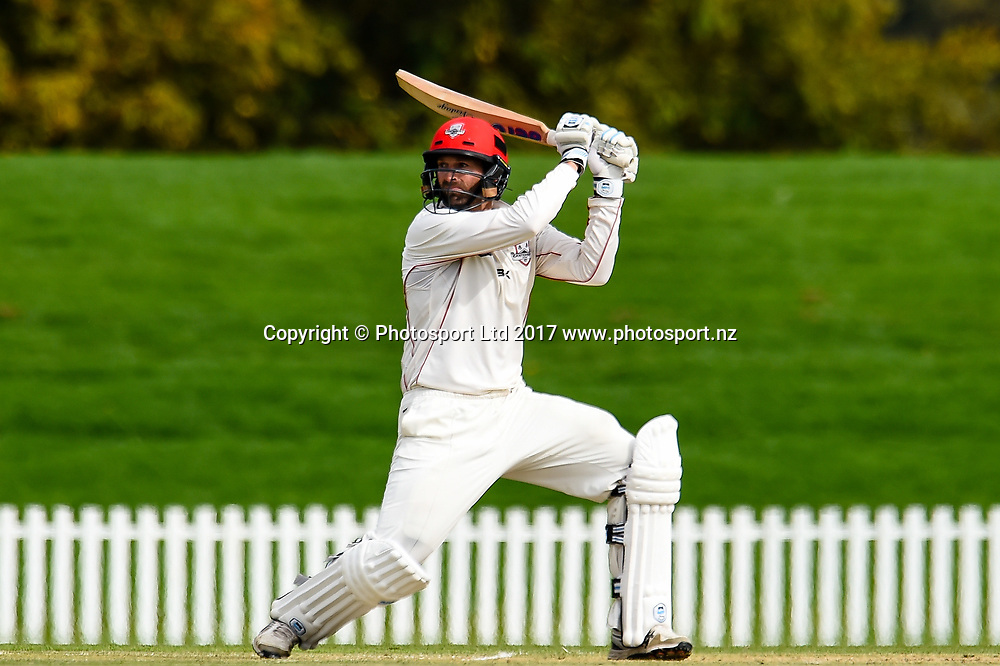 Andrew Ellis of Canterbury during Day4 of the Plunket Shield cricket game, Canterbury V Wellington, Hagley Oval, Christchurch, New Zealand, 1st April 2017.Copyright photo: John Davidson / www.photosport.nz