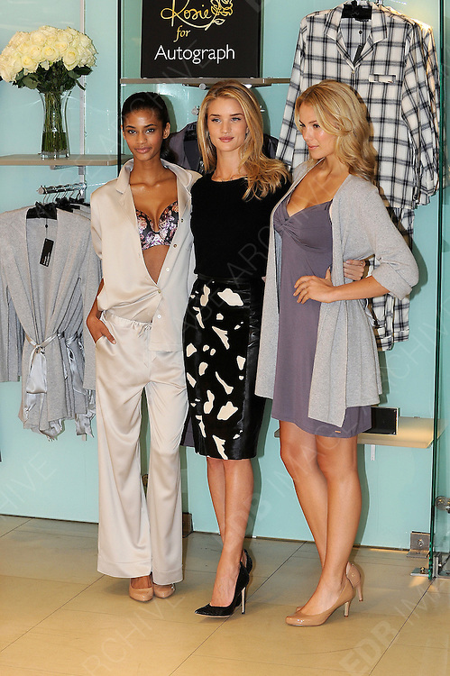 16.OCTOBER.2013. LONDON<br /> <br /> (CODE EBDB)<br /> ROSIE HUNTINGTON WHITELEY ATTENDS A PHOTOCALL TO PROMOTE HER NEW LINGERIE AND NIGHTWEAR RANGE FOR M&amp;S AT THE MARBLE ARCH STORE IN LONDON<br /> <br /> BYLINE: EDBIMAGEARCHIVE.CO.UK<br /> <br /> *THIS IMAGE IS STRICTLY FOR UK NEWSPAPERS AND MAGAZINES ONLY*<br /> *FOR WORLD WIDE SALES AND WEB USE PLEASE CONTACT EDBIMAGEARCHIVE - 0208 954 5968*
