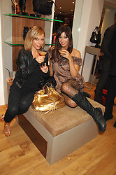 Left to right, VANESSA GALLAGHER and Model CATALINA GUIRADO at the official launch of Kate Kuba & UGG Australia store, 22 Duke of York Square, London SW3 on 10th October 2007.<br />