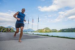 Runner at Lake Bled practicing for traditional night run, Nocna desetka at Bled, Ljubljana, Slovenija on 7th of July 2016, Photo by Grega Valancic / Sportida