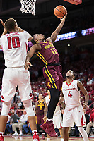 FAYETTEVILLE, AR - DECEMBER 9:  Isaiah Washington #11 of the Minnesota Golden Gophers goes up for a shot against Daniel Gafford #10 of the Arkansas Razorbacks at Bud Walton Arena on December 9, 2017 in Fayetteville, Arkansas.  The Razorbacks defeated the Golden Gophers 95-79.  (Photo by Wesley Hitt/Getty Images) *** Local Caption *** Isaiah Washington; Daniel Gafford