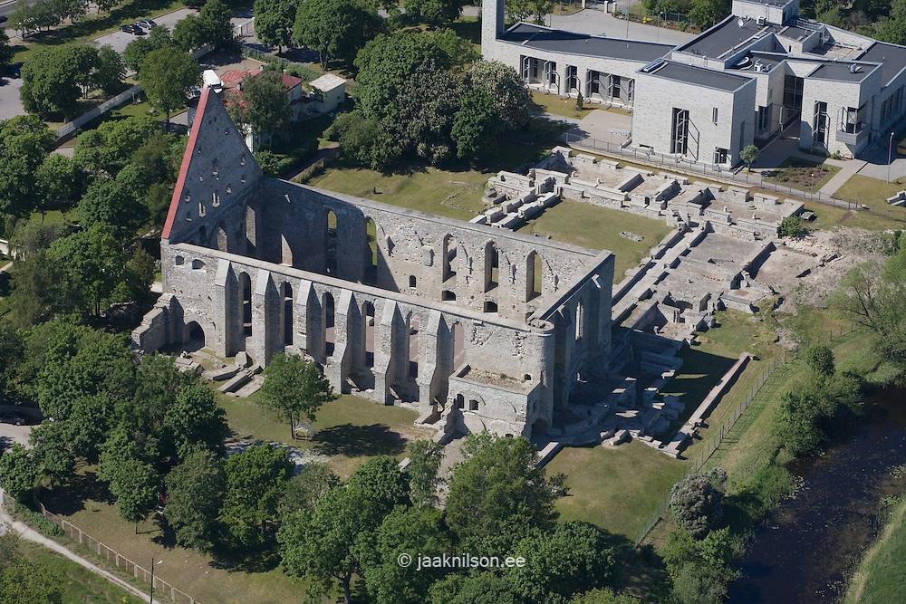 Aerial Picture of Pirita Nunnery, Pirita Cloister, Tallinn, Estonia