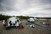 laundry day, Kisaralik River, Alaska