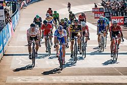 Finish of GREIPEL André and DÉMARE Arnaud during the 115th Paris-Roubaix (1.UWT) from Compiègne to Roubaix (257 km) at velodrome Roubaix, France, 9 April 2017. Photo by Pim Nijland / PelotonPhotos.com | All photos usage must carry mandatory copyright credit (Peloton Photos | Pim Nijland)