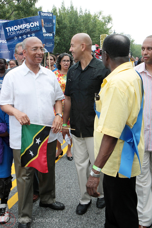 2 September 2013- Brooklyn, NY: (L-R) New York City Mayoral Candidate Bill Thompson and Bronx Borough President Ruben Diaz Jr. attend the 46th Annual West Indian Day Parade held along Eastern Parkway held on September 2, 2013 in Brooklyn, NY  ©Terrence Jennings