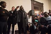 DAVID A BAILEY, SIR NICHOLAS SEROTA, ISAAC JULIEN; YINKA SHONIBARE Diaspora Pavilion LAUNCH  Palazzo Pisani and Santa Marina. Venice Biennale, 11 May 2017