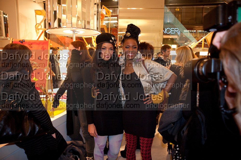 Sarah Jane Crawford; Shingai Shoniwa; THE NOISETTES, The Nineties are Vintage. Concept Store, Rellik and Workit. The Wonder Room. Selfridges. Oxford St. London. 7 January 2010.