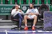 DESCRIZIONE : Campionato 2014/15 Dinamo Banco di Sardegna Sassari - Dolomiti Energia Aquila Trento Playoff Quarti di Finale Gara3<br /> GIOCATORE : Giancarlo Sardara Manuel Vanuzzo<br /> CATEGORIA : Pre Game Pregame Before Ritratto<br /> SQUADRA : Dinamo Banco di Sardegna Sassari<br /> EVENTO : LegaBasket Serie A Beko 2014/2015 Playoff Quarti di Finale Gara3<br /> GARA : Dinamo Banco di Sardegna Sassari - Dolomiti Energia Aquila Trento Gara3<br /> DATA : 22/05/2015<br /> SPORT : Pallacanestro <br /> AUTORE : Agenzia Ciamillo-Castoria/C.Atzori
