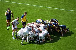 Scrum - Rogan Thomson/JMP - 15/04/2017 - RUGBY UNION - Sixways Stadium - Worcester, England - Worcester Warriors v Bath Rugby - Aviva Premiership.