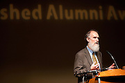Alan MacEachren makes a speech after being given the Distinguished Alumni Award at the College of Arts and Sciences Distinguished Alumni Awards Dinner and Ceremony on October 4, 2012..Photo by Chris Franz