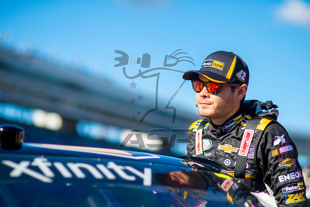 Ft. Worth, TX - Nov 07, 2015:  The NASCAR Xfinity Series team of Kyle Larson (42) takes to the track in the  ParkerStore Chevy for the O'Reilly Auto Parts Challenge at Texas Motor Speedway in Ft. Worth, TX.