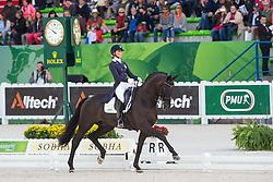 Mina Telde, (SWE), Santana - Grand Prix Special Dressage - Alltech FEI World Equestrian Games™ 2014 - Normandy, France.<br /> © Hippo Foto Team - Leanjo de Koster<br /> 25/06/14