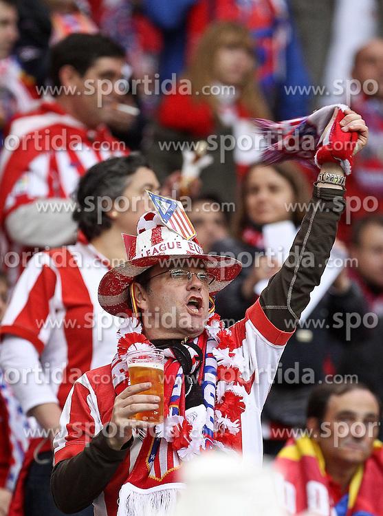 12.05.2010, Hamburg Arena, Hamburg, GER, UEFA Europa League Finale, Atletico Madrid vs Fulham FC im Bild.Atletico de Madrid's supporters. EXPA Pictures © 2010, PhotoCredit: EXPA/ nph/  Alvaro Hernandez / SPORTIDA PHOTO AGENCY