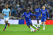 Ngolo Kante (7) of Chelsea on the attack during the Carabao Cup Final match between Chelsea and Manchester City at Wembley Stadium, London, England on 24 February 2019.
