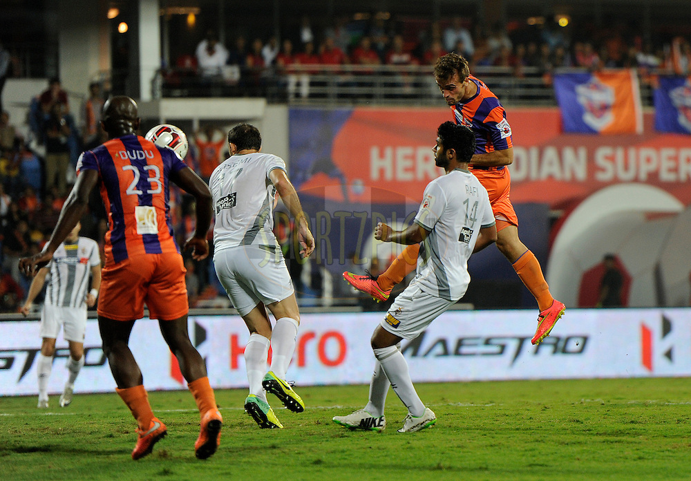 Davide Colomba of FC Pune City in action during match 44 of the Hero Indian Super League between FC Pune City and Atletico de Kolkata FC held at the Shree Shiv Chhatrapati Sports Complex Stadium, Pune, India on the 29th November 2014.<br /> <br /> Photo by:  Pal Pillai/ ISL/ SPORTZPICS