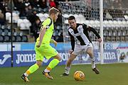 Hibernian midfielder Daryl Horgan (7) looks to beat a St Mirren defender during the Ladbrokes Scottish Premiership match between St Mirren and Hibernian at the Paisley 2021 Stadium, St Mirren, Scotland on 27 January 2019.