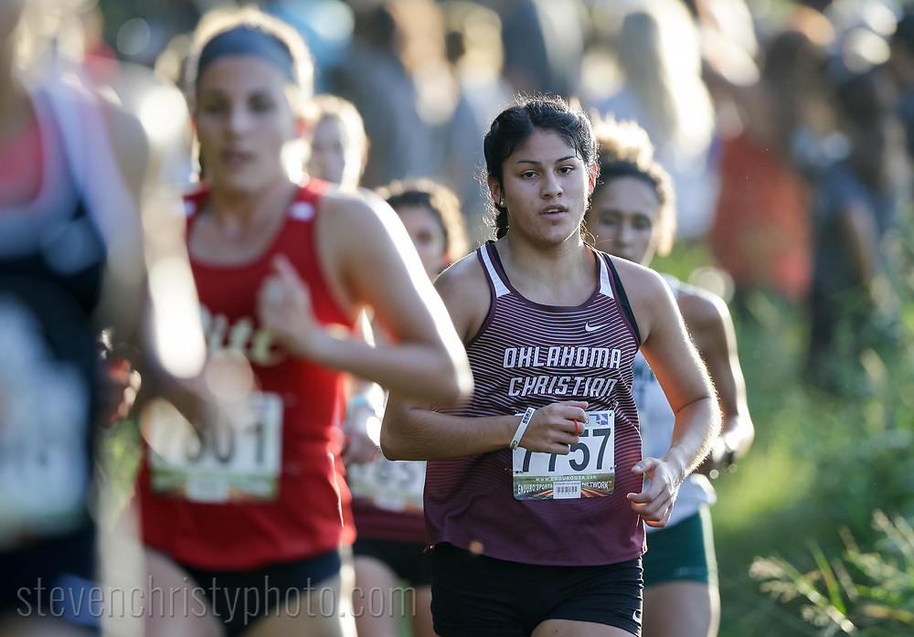 September 7, 2019: The Oklahoma Christian University Eagles women's cross country team participates in the UCO Land Run at Santa Fe High School in Edmond, OK.