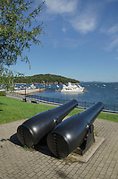 Bar Harbor cannons on the Village Green, Maine